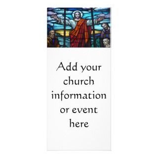 Window Christ Church Bulletin Event Rack Card Template
