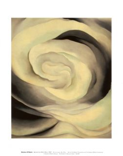 Abstraction White Rose, 1927 Print