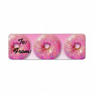 Donuts Gift Tag Stickers Custom Return Address Labels