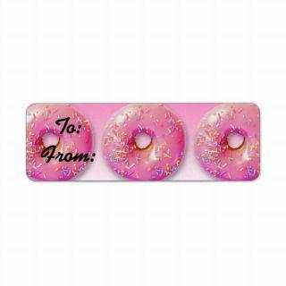 Donuts Gift Tag Stickers Custom Return Address Labels