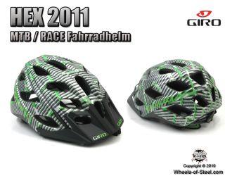 Giro Hex Matte Green/Black Lines Logo NEU Modell 2011