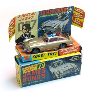 Corgi Toys 261 James Bond 007 Aston Martin DB5 boxed