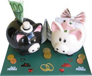 lustiges Geldgeschenk Hochzeit Sparschwein aus Keramik
