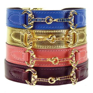Hartman & Rose Horse & Hound Collection Leather Dog Collar   Dog   Boutique