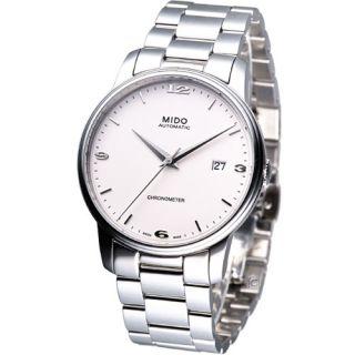 MIDO Baroncelli Automatic COSC Swiss Dress Watch White M0104081101100