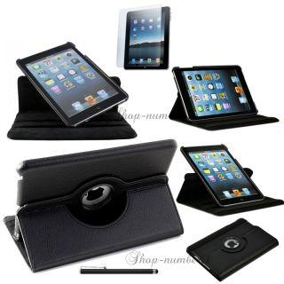 NEU iPad Mini 360° Schutz Hülle+Schutzfolie Leder Tasche Smart