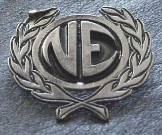 NITZER EBB PIN BADGE FRONT 242 DIE KRUPPS LINE ASSEMBLY