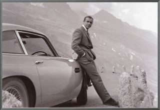 James Bond Aston Martin Framed Canvas Print