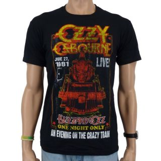 Ozzy Osbourne   Crazy Train Band T Shirt, schwarz