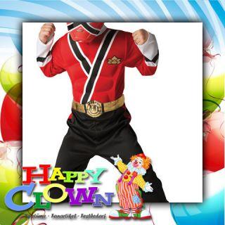 Red Ranger Muscle Samurai (Karneval, Fasching, Comic, Power Ranger