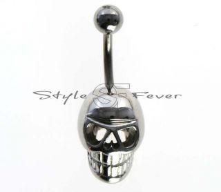 Bauchnabel Piercing Skull Schädel Gothic Cyber Rock Emo 16
