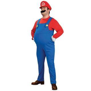 RU Lizenz Herren Kostüm Fasching Karneval Super Mario Luigi Grösse S