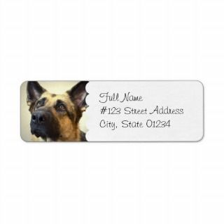 German Shepherd Dog Mailing Label