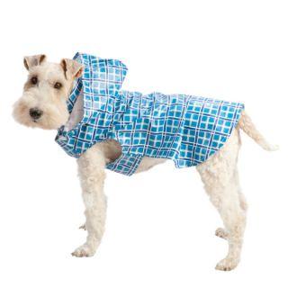 Top Paw™ Blue Plaid Dog Raincoat