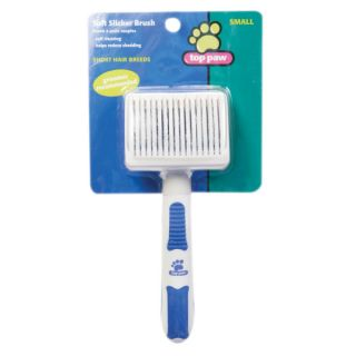 Top Paw™ Self Cleaning Soft Slicker Brush   New Puppy Center   Dog