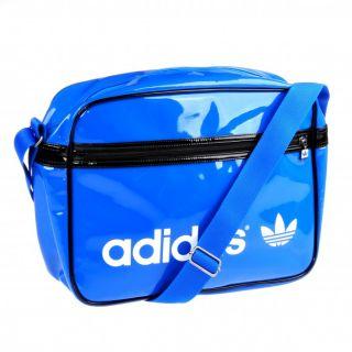 adidas AC Airline Pat Bag Tasche Umhängetasche blau