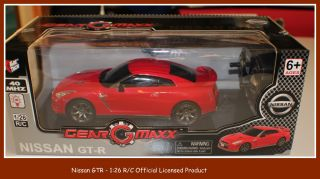 NISSAN GTR REMOTE CONTROL CAR   RED  126 SCALE LICENSED PRODUCT BRAND