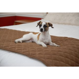 Carolina Pet Quilted Bed Scarf in Brown   Cat   Boutique