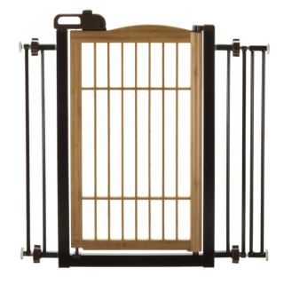 Richell USA Tak� Eco Friendly Bamboo One Touch Pet Gate   Dog   Boutique