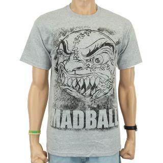Madball   Splatter Ball Band T Shirt, grau meliert