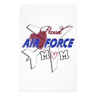 Proud Air Force Mom  Love & Airplane Stationery