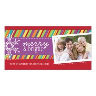 Modern and Bright Holiday Photo Cards