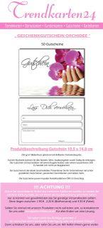 50 GUTSCHEINE Orchidee Nails Nagelstudio Nailart Nageldesign Maniküre