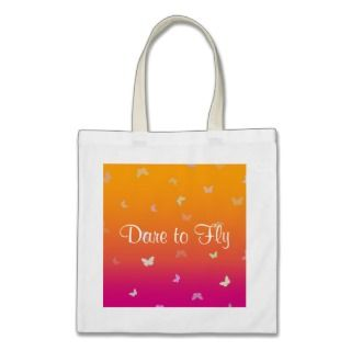 Mango Butterflies Dare to Fly   Budget Tote Tote Bag