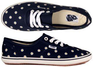 Vans Schuhe Cedar Daisies flower navy blau blumen authentic lo pro