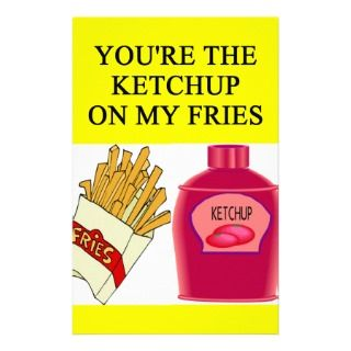 KETCHUP and french fries lover Stationery Paper