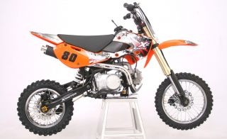 XB80 Enduro Cross Dirt Bike 125CC/4Takt Orange 2011 Neu