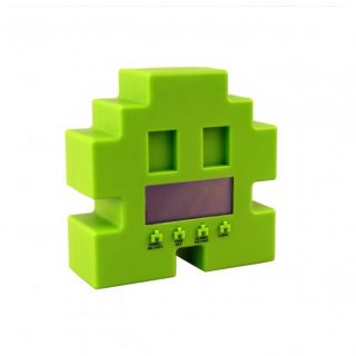 Space Alien Retro Arcade Wecker   80er Alarm Monster Pixel Snooze