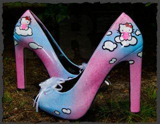 Kitty High Heels Damen Schuhe Pumps 36 37 38 39 40 41 42 NEU