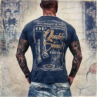 Yakuza Herren T Shirt TS 39 midnight navy special Shirt neu