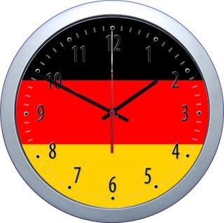 Klassische Uhr Deutschlandflagge German Flag Germany