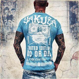 Yakuza Herren T Shirt TS 38 malibu blue special Shirt neu