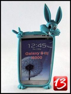 Samsung Galaxy S3 III i9300 Case Tasche Huelle Silikon Hase Rabbit