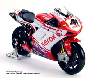 DUCATI 1198 NORIYUKI HAGA #41 MotoGP Superbike Maisto 118
