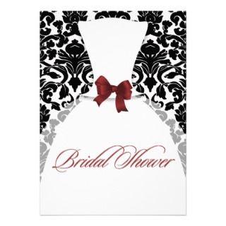 Vestido de boda nupcial de la ducha del damasco ro invitaciones