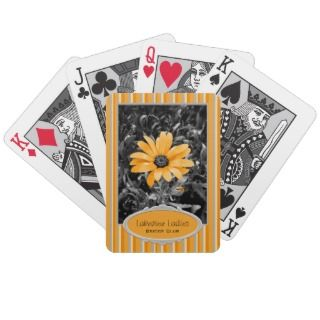 Desaturated Spring Flash African Daisy Photograph Bicycle Poker Cards