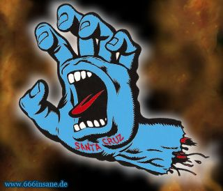 Santa Cruz Screaming Hand Blue Sticker Skateboard