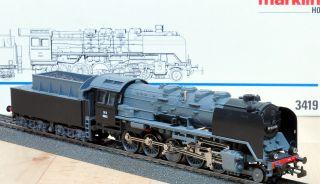 Märklin 3419 Dampflok mit Tender Serie 49 der NS / Neuwertig