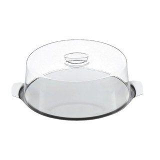 Silit Tortenplatte 30cm Edelstahl Rostfrei 18/10 mit Kunststoffhaube