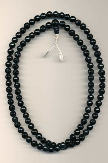 Mala Gebetskette Rosenkranz Kette Onyx Buddhismus 52