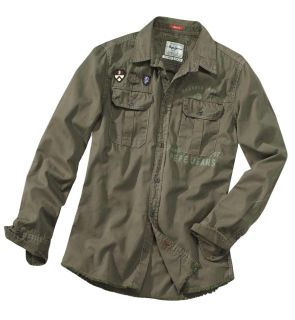 Trendiges Hemd im Army  von Pepe Jeans London in khaki