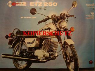 Poster MZ ETZ 250 58 x 81 IFA DDR ORIGINAL