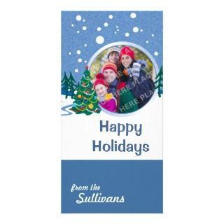 Snow Scene Photo Cards, Snow Scene Photo Card Templates