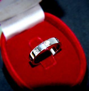/ 750 GOLD / RING / LOVE mit Diamant / GOLDRING Größe 55