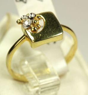 Gold 585 Ring mit Diamant Rw ca 55 aus Juweliersnachlaß 2,2 Gr
