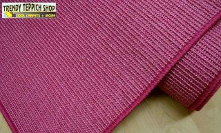Teppich Läufer Echt Sisal *PINK* umkettelt 67 cm breit NEU
